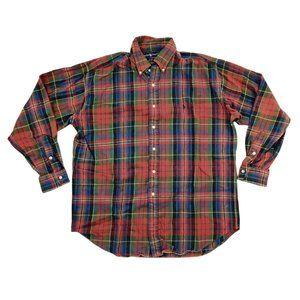 Ralph Lauren Button Shirt Men's Large Burgundy EUC